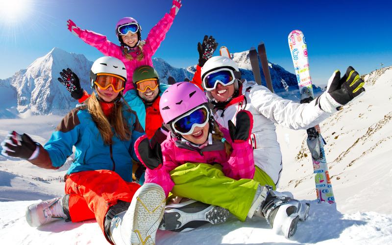 Wintersport kinderen